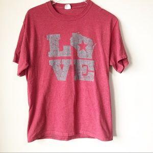 🌸 Wisconsin Love tee shirt